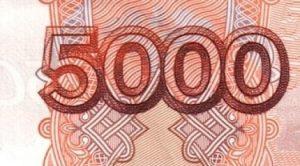 5000 человек
